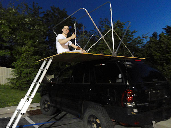 Image & offroadTB.com u2022 View topic - Homemade Roof Top Tent