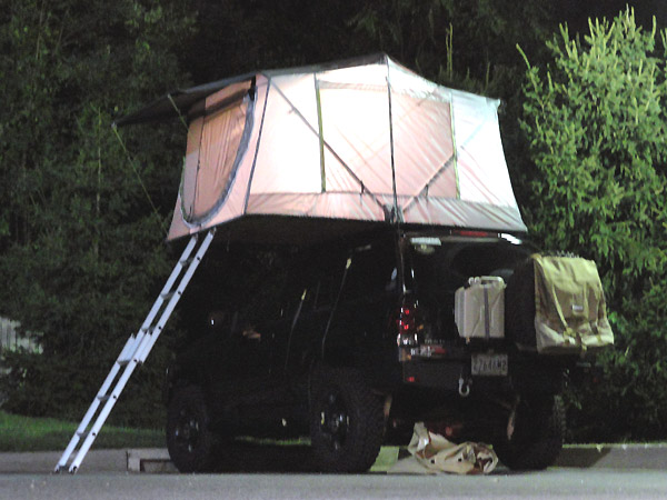 I was out finalizing the trip preparations on the tent. Hit it with some extra water proofer and packed all the bedding in. I had the awning setup too. & offroadTB.com u2022 View topic - Homemade Roof Top Tent